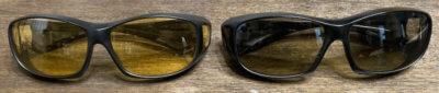 CCP400オーバーグラスとDRIVEWEARオーバーグラス比較前面