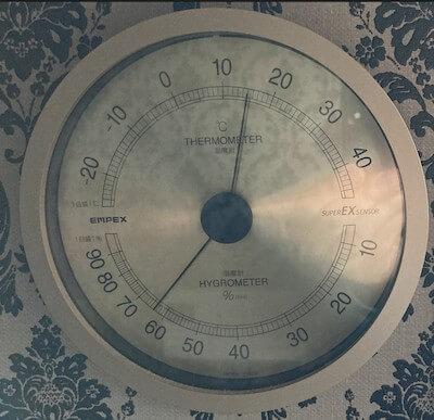 温度計+湿度計