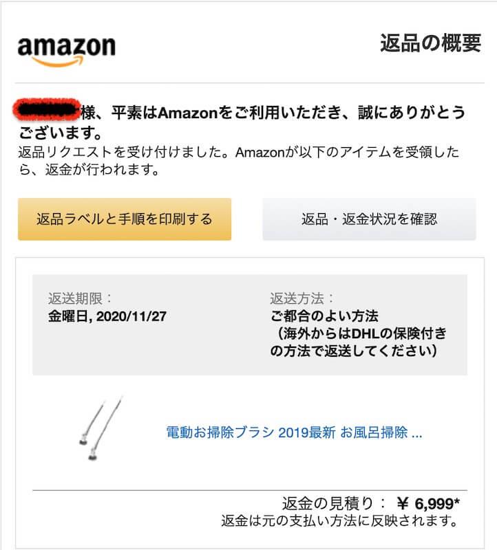 Amazon返品の概要