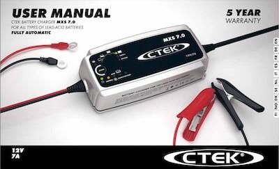 CTEK MXS7.0マニュアル